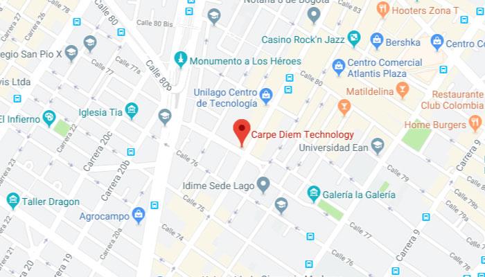 Mapa ubicación Carpe Diem Technology